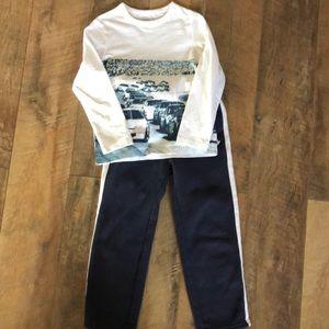 Sweatpants and long sleeve tee shirt by OshKosh